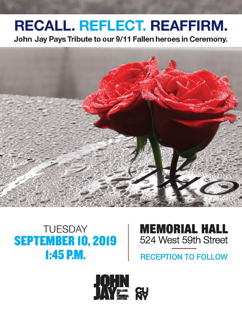 John Jay College of Criminal Justice sets annual 9/11 Remembrance Ceremony